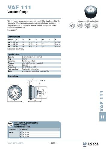 Needle Vacuum Gauge, VAF 111 Series