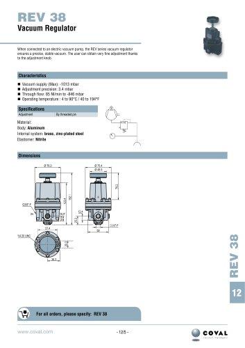 REV 38 Vacuum Regulator