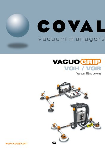 VACUOGRIP lifting devices for metal VGH-VGR Series