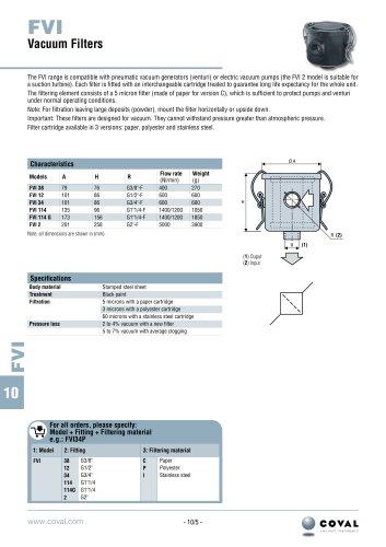 Vacuum Filters, FVI