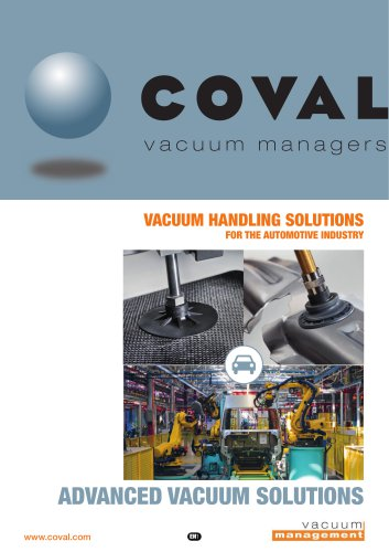 VACUUM HANDLING SOLUTIONS FOR THE AUTOMOTIVE INDUSTRY