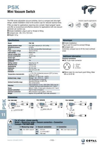 Vacuum switch PSK Series