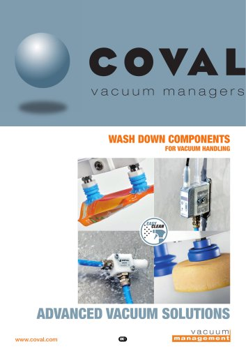WASH DOWN COMPONENTS FOR VACUUM HANDLING
