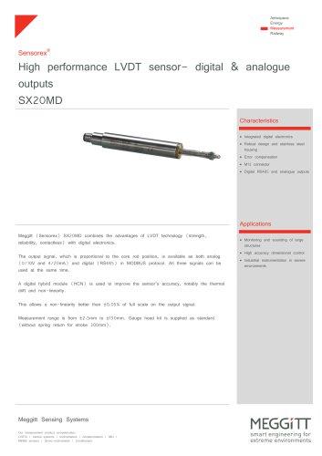 DC/DC LVDT SX20MD series- DIGITAL