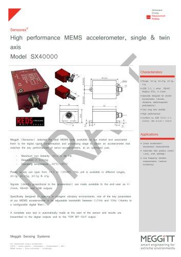 High performance MEMS based accelerometer