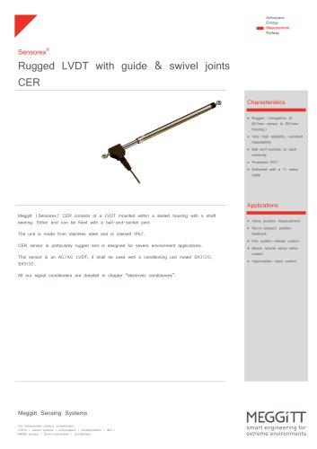 Robust LVDT CER series