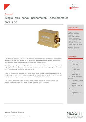 Servo inclinometer / accelerometer - SX41200 series