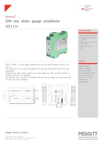 Strain gauge conditioner SX3310