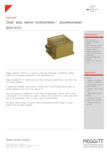 Twin axis servo-inclinometer SX41400