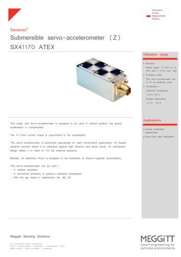 Vertical use- (IS) servo-accelerometer