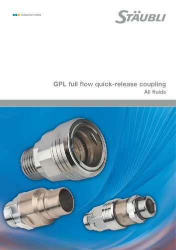 GPL full flow quick-release coupling    All fluids