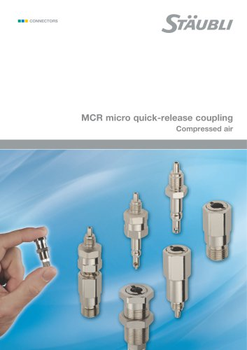 MCR micro quick-release coupling