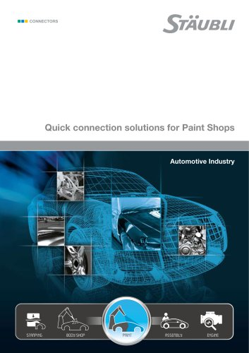 Quick connection solutions for Paint Shops Automotive Industry