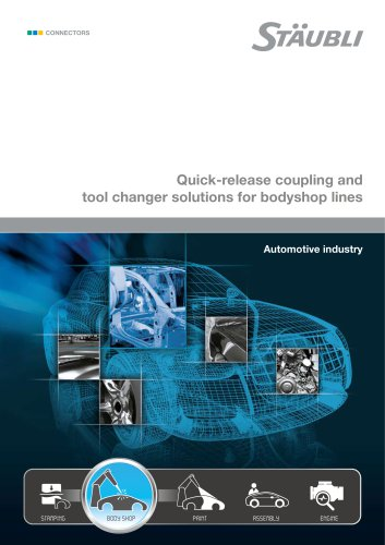Quick-release coupling and tool changer solutions for bodyshop lines Automotive industry