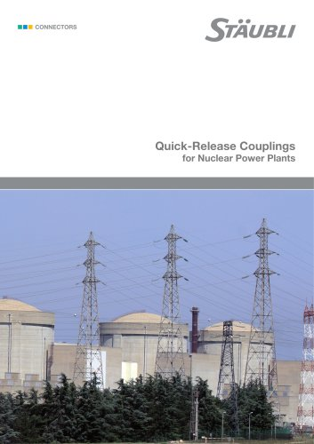 Quick-Release Couplings for Nuclear Power Plants
