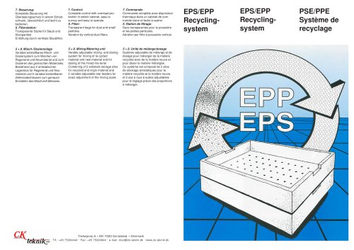EPS / EPP Recyclingsystem