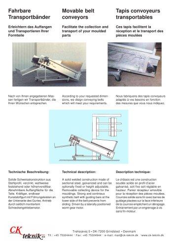 Movable belt conveyors