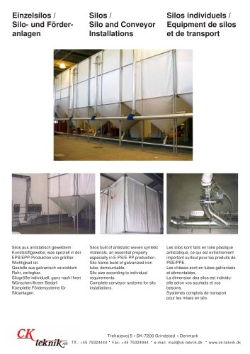 Silos / Silo and Conveyor Installations