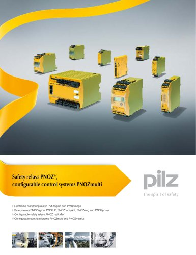 Brochure Safety relays PNOZ®, configurable control systems PNOZmulti