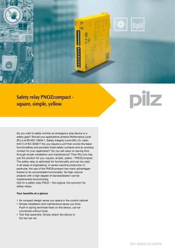 Flyer Safety relay PNOZcompact