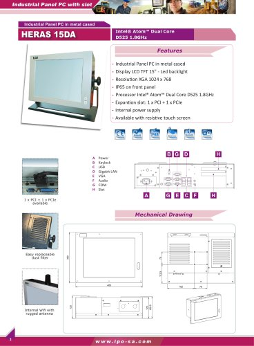 Industrial Panel Pc with slot