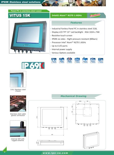 stainless steel Panel PC and monitor