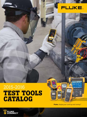 2015 - 2016 TEST TOOLS CATALOG