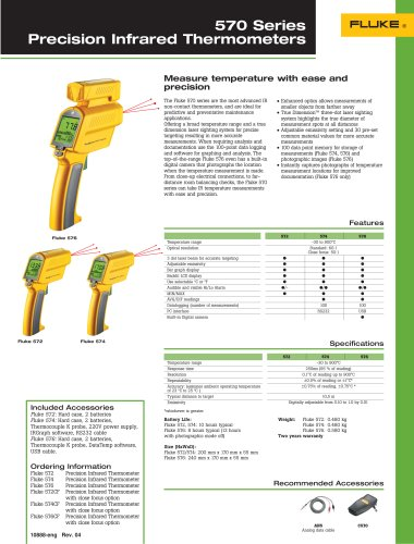 570 Series Precision Infrared Thermometers