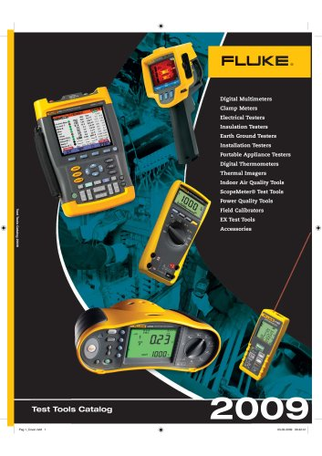 Fluke Test Tools Catalog 2009