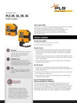 PLS 3R, 3G, 5R, 5G Point Lasers - 1