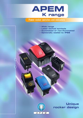 """APEM """"K"""" range rocker switches and LED indicators"""