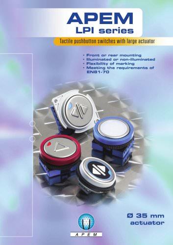 APEM LPI series - Tactile pushbuttons with large actuator