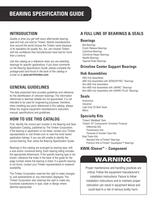 Automotive Aftermarket Bearing Specification Guide - 2