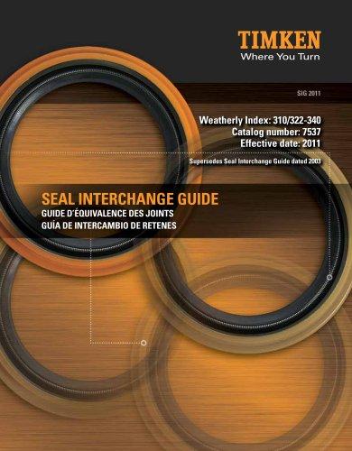Automotive Aftermarket Seal Interchange Guide