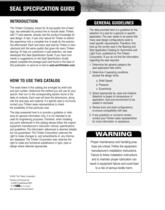 Automotive Aftermarket Seal Specification Guide - 2