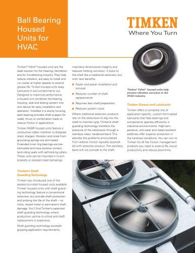 Ball Bearing Housed Units for HVAC