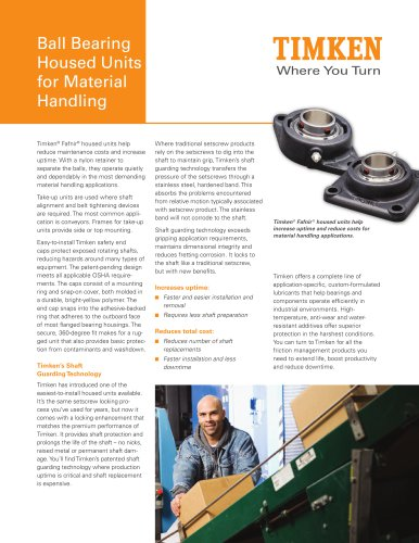 Ball Bearing Housed Units for Material Handling