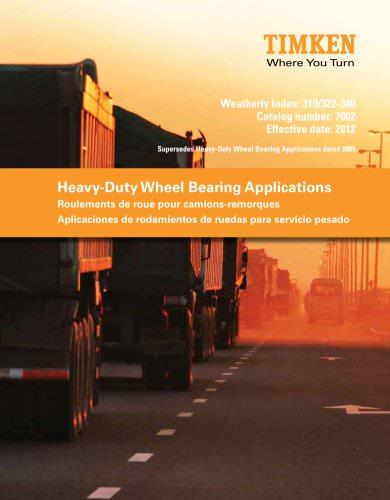 Heavy Duty Wheel Bearing Applications