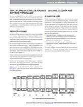 Spherical Roller Bearing Catalog - 11