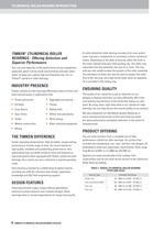 Timken Cylindrical Roller Bearing Catalog - 9