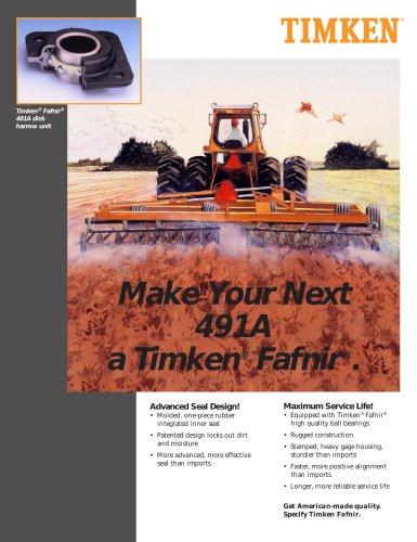 Timken® Fafnir® 491A disk harrow unit