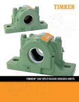 Timken SAF Housed Unit Catalog - 1
