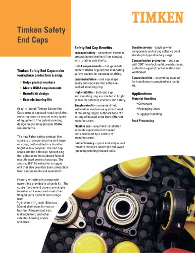Timken Safety End Caps