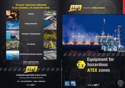 Equipment for hazardous areas  ATEX zones