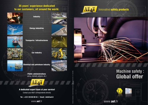 Machine safety : global offer