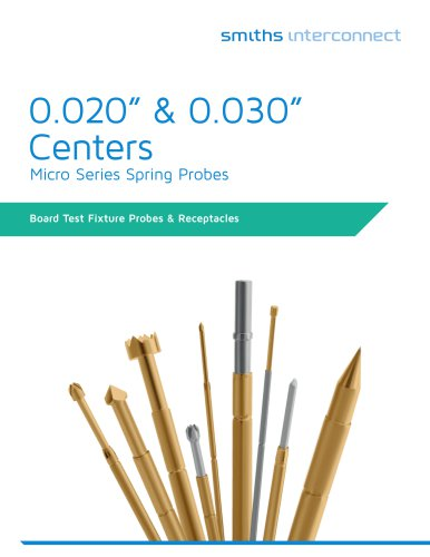 "0.020"" & 0.030"" Centers"
