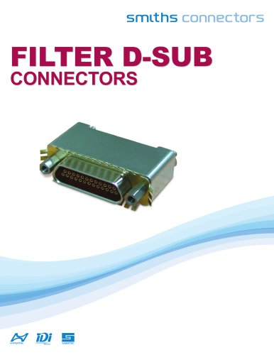 Filtered D-sub connector