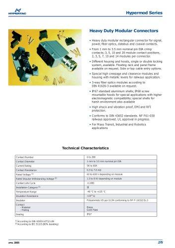 Heavy Duty Modular Connectors