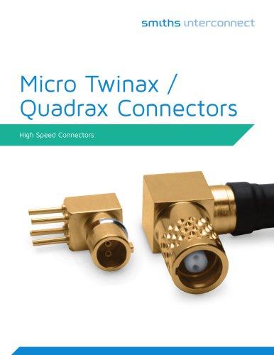Micro Quadrax/Twinax Catalog