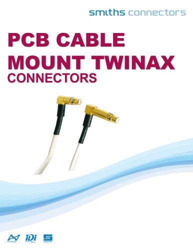 PCB Cable Mount Twinax Datasheet